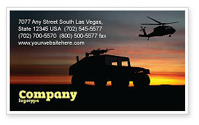 Military: War Conflict Business Card Template #03588