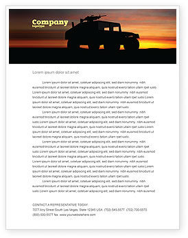 Military: War Conflict Letterhead Template #03588