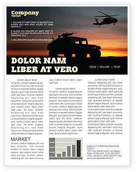 War Conflict Newsletter Template, 03588, Military — PoweredTemplate.com