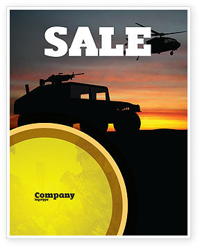 Military: War Conflict Sale Poster Template #03588