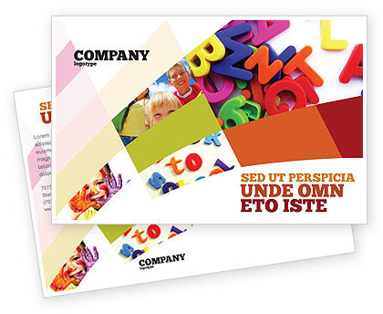 Education & Training: Word Play Postcard Template #03592