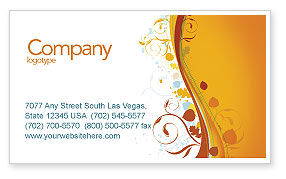 Abstract/Textures: Autumn Theme Business Card Template #03593