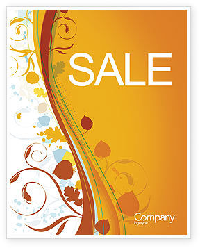 Abstract/Textures: Autumn Theme Sale Poster Template #03593