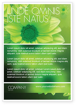 Green Flowers Ad Template, 03594, Abstract/Textures — PoweredTemplate.com