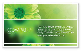 Green Flowers Business Card Template, 03594, Abstract/Textures — PoweredTemplate.com