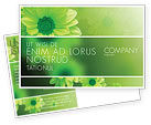 Abstract/Textures: Green Flowers Postcard Template #03594