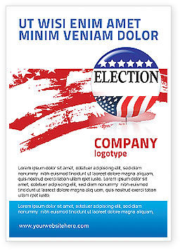 USA Elections Ad Template, 03595, America — PoweredTemplate.com