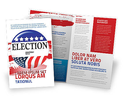 USA Elections Brochure Template, 03595, America — PoweredTemplate.com