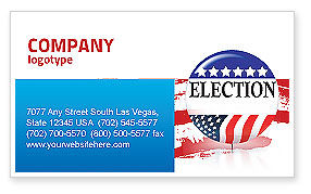 USA Elections Business Card Template, 03595, America — PoweredTemplate.com