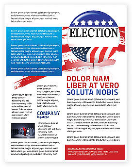 Election brochure for Voting flyer templates free