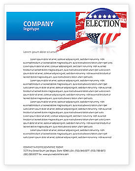 America: USA Elections Letterhead Template #03595