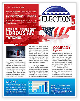 USA Elections Newsletter Template, 03595, America — PoweredTemplate.com