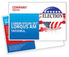 America: USA Elections Postcard Template #03595