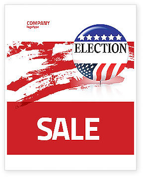 America: USA Elections Sale Poster Template #03595