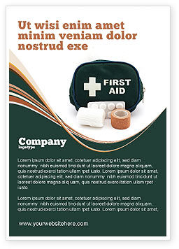 Medical: First Aid Set Ad Template #03596