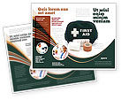 Medical: First Aid Set Brochure Template #03596