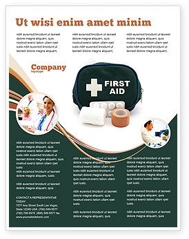 aids brochure template - first aid set flyer template background in microsoft word