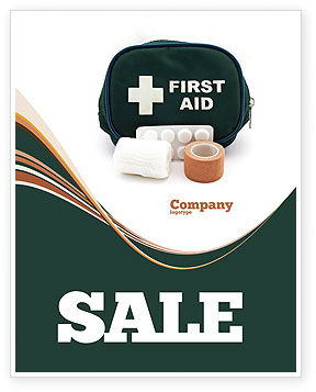 First Aid Set Sale Poster Template, 03596, Medical — PoweredTemplate.com