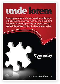 Business Concepts: White Piece Ad Template #03597