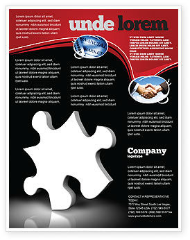 Business Concepts: White Piece Flyer Template #03597