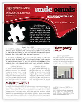 Business Concepts: White Piece Newsletter Template #03597