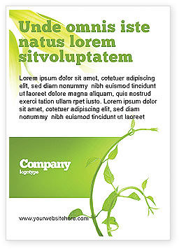 Nature & Environment: New Life Ad Template #03598
