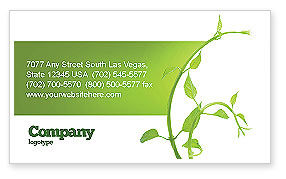 Nature & Environment: New Life Business Card Template #03598