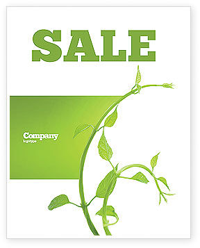 New Life Sale Poster Template, 03598, Nature & Environment — PoweredTemplate.com