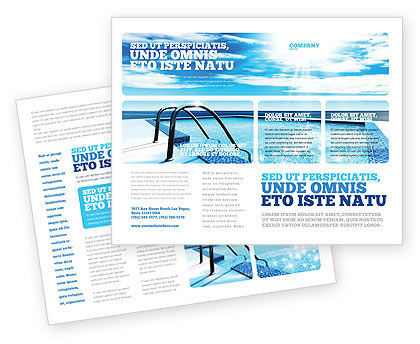 Swimming pool brochure template design and layout for Pool design templates