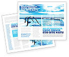 Careers/Industry: Swimming Pool Brochure Template #03599