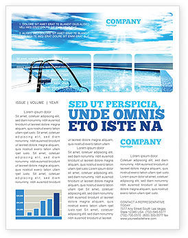 Swimming Pool Newsletter Template, 03599, Careers/Industry — PoweredTemplate.com