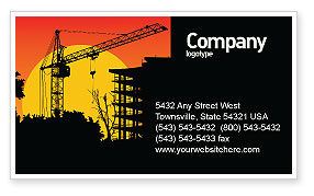 Construction: Building Set Business Card Template #03600