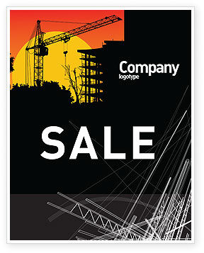 Construction: Building Set Sale Poster Template #03600