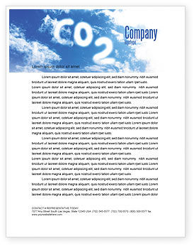 Carbonic Acid Letterhead Template, 03601, Nature & Environment — PoweredTemplate.com