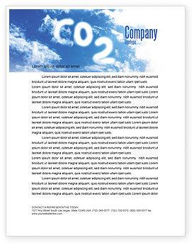 Nature & Environment: Carbonic Acid Letterhead Template #03601