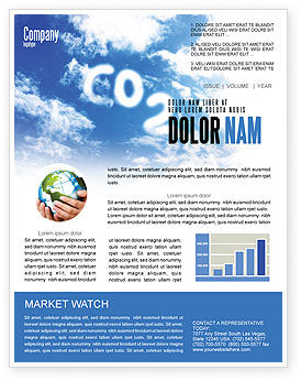 Carbonic Acid Newsletter Template, 03601, Nature & Environment — PoweredTemplate.com