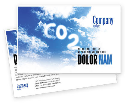 Carbonic Acid Postcard Template, 03601, Nature & Environment — PoweredTemplate.com
