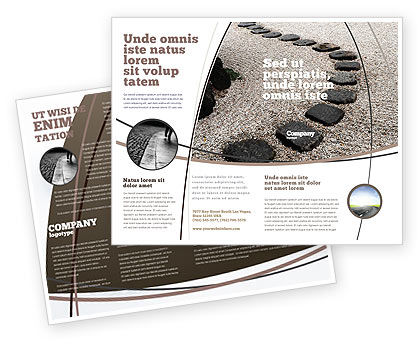 Business Concepts: Winding Road Brochure Template #03602