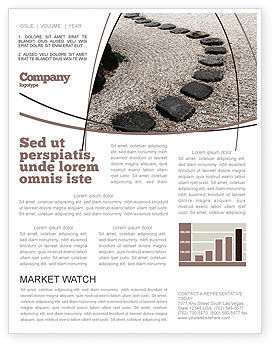 Business Concepts: Winding Road Newsletter Template #03602