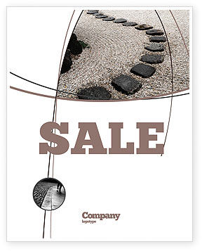 Business Concepts: Winding Road Sale Poster Template #03602
