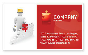 Construction: Building Up Business Card Template #03604