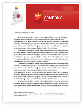 Building Up Letterhead Template, 03604, Construction — PoweredTemplate.com