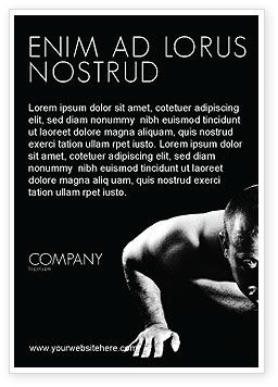 Sports: 男性スポーツ - 広告テンプレート #03606