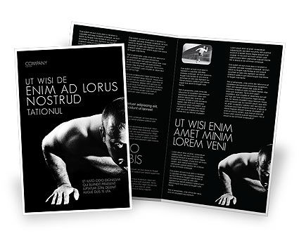 Men Sport Brochure Template
