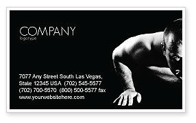 Men Sport Business Card Template, 03606, Sports — PoweredTemplate.com