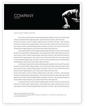 Men Sport Letterhead Template, 03606, Sports — PoweredTemplate.com