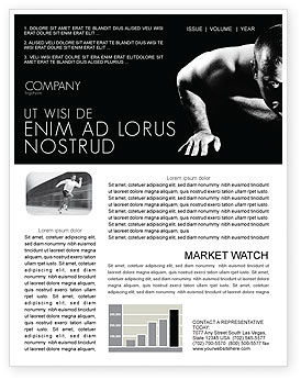 Men Sport Newsletter Template, 03606, Sports — PoweredTemplate.com