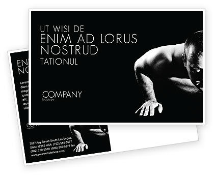 Sports: Men Sport Postcard Template #03606