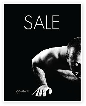Men Sport Sale Poster Template, 03606, Sports — PoweredTemplate.com