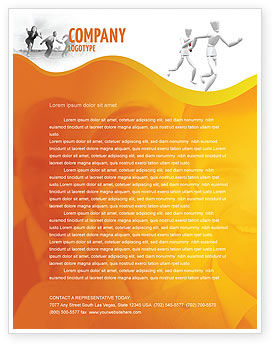 Business Concepts: Relay Letterhead Template #03608